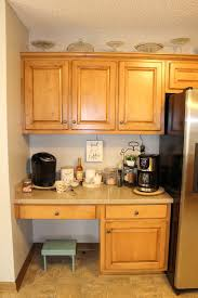 whispers from wildwood kitchen desk turned coffee bar