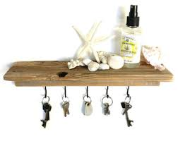 Reclaimed Wood Floating Shelves by Reclaimed Wood Floating Shelf Dark Wood Shelf Key Holder Key