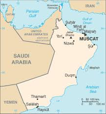 map of oman and uae oman