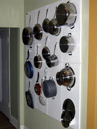 pots and pan storage and organization with wall control white