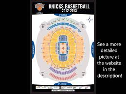 madison square garden seating chart youtube