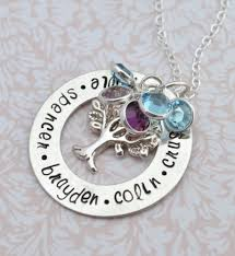 mothers day jewelry personalized sale birthstone family tree necklace sted personalized