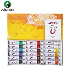 Minyak Cat cat minyak maries color set 18 lix supplies