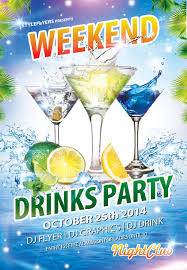 weekend drinks party flyer by styleflyers on deviantart