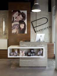 Desks Hair Salon Reception Furniture Propaganda Hair Salon By Dick Clark Architecture Store Design