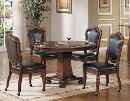 Poker Table Chairs With Casters by Convertible Poker U0026 Dining Table Bellagio By Sunset Trading Cr