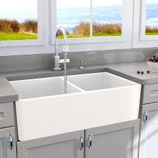 double basin apron front sink abia 33 x 18 double basin farmhouse apron kitchen sink reviews
