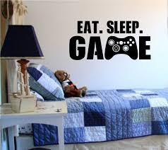 eat sleep game version 101 gamer video game decal sticker wall boy