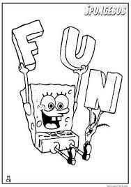 Spongebob Fun Coloring Pages Coloring Pages Sponge Bob