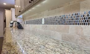 limestone backsplash kitchen kitchen backsplash kitchen backsplash after kcak accent tiles