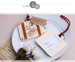 luggage tags wedding favors 50pcs lot bon voyage airplane luggage tag wedding baby shower
