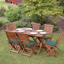 7 piece concord wooden garden furniture set shelving centre