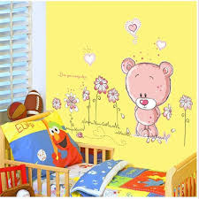 livingroom cartoon aliexpress com buy removeable vinyl cute cartoon bear bedroom