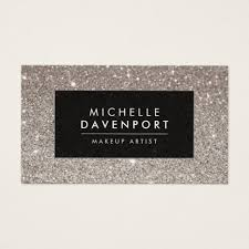 freelance makeup artist business card classic silver glitter makeup artist business card zazzle makeup