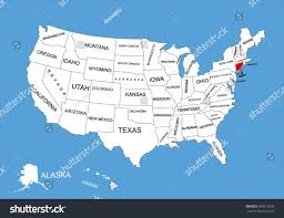 Idaho Map Usa by Connecticut Location On The Us Map Vector Color Map Of