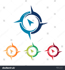 Map Location Simple Abstract Compass Find Map Location Stock Vector 379262005