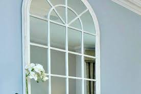 Ideas Design For Arched Window Mirror Window Pane Mirrors White Rustic Wood Arched Mirror For Home