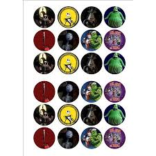 nightmare before christmas cupcake toppers edible cake image nightmare before christmas cupcake toppers