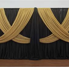 Criss Cross Curtains Premium Criss Cross Curtain 2 Panel Backdrop Height 6 10ft