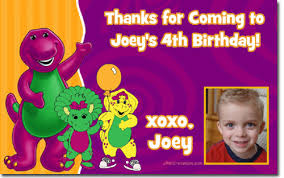 barney birthday invitations candy wrappers thank you cards