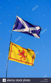 Scotland Flags The Two Flags Of Scotland St Andrews U0027 Cross And The Lion Rampant