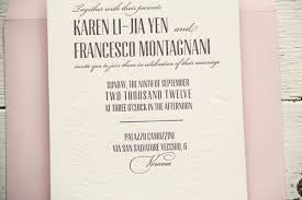 bilingual wedding invitations francesco s bilingual letterpress wedding invitations