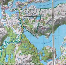 Patagonia South America Map Trekking Map In Patagonia Terraquest Maps Company