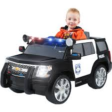 indian police jeep rollplay chevy tahoe police suv 6 volt battery powered ride on
