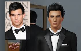 sims 3 male models and celebrities taylor lautner as jacob black