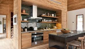 Floating Cabinets Kitchen Gray Kitchen Island Black Countertop And Backsplash Industrial
