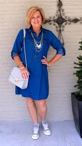 casual for 50 year how to style a denim dress casually converse fashion converse