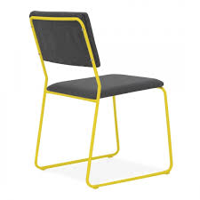 Yellow Dining Chair Cult Living Bauhaus Style Yellow Stackable Dining Chair With