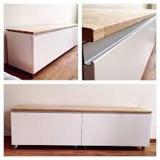bank flur ikea ikeahack 2 metod cabinets with nodsta doors idee für den