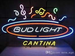 bud light lighted sign 2018 bud light cantina music notes neon sign hand crafted real glass