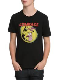 courage the cowardly dog shadow logo t shirt topic