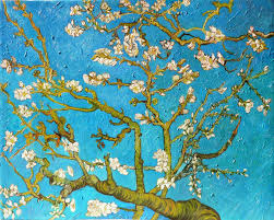 almond tree vincent van gogh art blue pattern branch painting