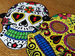 printable sugar skull masks see craft
