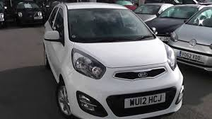 used car kia picanto 2 eco clear white wu12hcj wessex