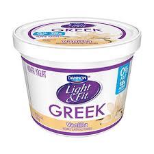 light and fit vanilla yogurt dannon light fit greek blended nonfat vanilla yogurt 48 oz