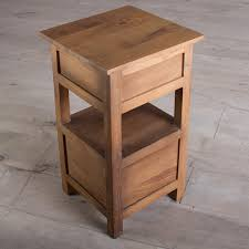 Natural Wood Nightstands Bedroom Nightstand Small Metal Bedside Table Appealing