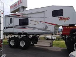 5th wheel monster truck trailer jacked wheels small