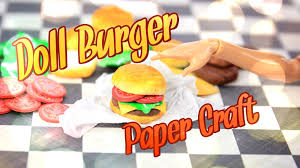 diy how to make doll hamburger handmade crafts youtube