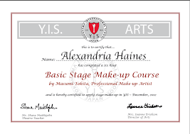 professional makeup artist certification theatrical makeup experience alexandra haines s