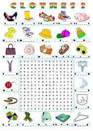 Free Word Search Worksheets 9 Free Esl Clothes Wordsearch Worksheets