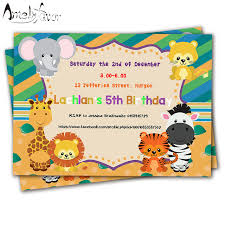 20pcs safari animals theme invitations card birthday supplies