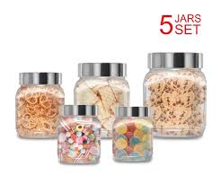 amazon com plastic jars set milton food storage containers clear