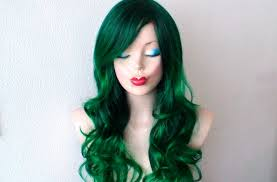 irish green wig ombre wig green hair long curly hairstyle