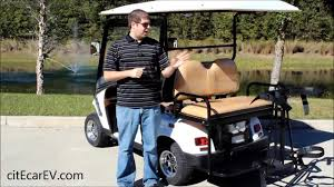 golf bag holder for golf carts with rear facing seat by citecar