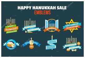 hanukkah sale happy hanukkah sale emblem set stock vector idollisimo 125778070