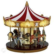 mr animated musical celebration carousel decoration